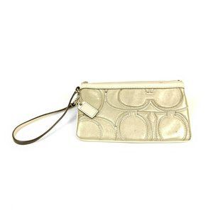 Coach Wristlet Clutch Gold